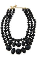 Kate Spade Give It A Swirl Faceted Bead Necklace Black - Lyst