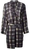 Etoile Isabel Marant Vanessa Checked Dress - Lyst
