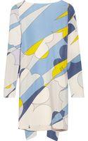 Vionnet Printed Silk Mini Dress - Lyst