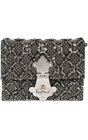 Dolce & Gabbana Lucrezia Embellished Wool Crepe Clutch - Lyst