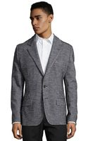 Dolce & Gabbana Grey Houndstooth Wool-cotton 2-button Blazer - Lyst