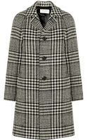 Saint Laurent Prince Of Wales Check Wool-blend Coat - Lyst