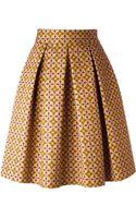 Stella Jean Printed Pleated Skirt - Lyst