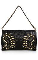 Roberto Cavalli Studded Flap Bag - Lyst