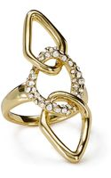 Alexis Bittar Encrusted Link Ring - Lyst