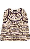 Isabel Marant Wyle Metallic Open Knit Sweater - Lyst