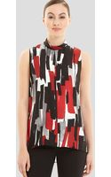 Lafayette 148 New York Stassi Silk Print Blouse - Lyst