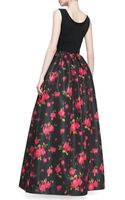 Michael Kors Rose Faille Ball Skirt - Lyst
