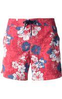 Woolrich Floral Print Swim Shorts - Lyst