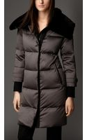 Burberry Fur Collar Downfilled Puffer Coat - Lyst