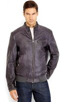 Levi's Charcoal Faux Leather Bomber Jacket - Lyst
