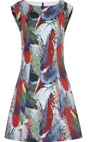 Reiss Ottoline Feather Printed Dress - Lyst