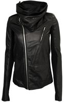 Rick Owens Leather Cowled Stooges Jacket Black - Lyst
