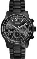 Guess Mens Chronograph Horizon Blacktone Stainless Steel Bracelet Watch 45mm - Lyst