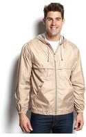 Izod Hooded Rain Jacket - Lyst