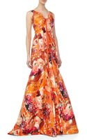J. Mendel Sleeveless Floralprint Silk Gown - Lyst