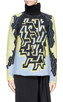 Peter Pilotto Pac Chunky Rib Turtleneck Sweater - Lyst