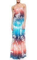 Diane Von Furstenberg Annie Strappy Printed Maxi Dress - Lyst