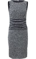 Oscar de la Renta Tweed Dress with Banded Waist - Lyst