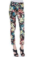 Erdem Melinda Fitted Printed Trousers - Lyst