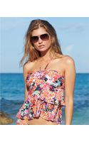 Kenneth Cole Reaction Floral-print Tiered Ruffle Tankini Top - Lyst