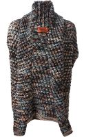 Missoni Chunky Knit Sleeveless Cardigan - Lyst