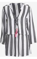 Cool Change Pink Tassel Striped Mini Dress - Lyst