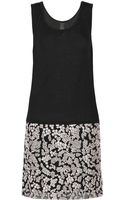 Vera Wang Sequin and Tulleembellished Jersey Dress - Lyst