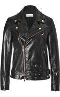RED Valentino Leather Biker Jacket - Lyst