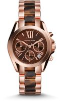 Michael Kors Mini Lexington Rose Goldtone Stainless Steel Chronograph Bracelet Watch - Lyst