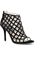 Michael Kors Yvonne Crystal and Suede Cage Pump - Lyst
