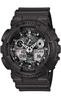 G-shock Mens Analogdigital Gray Resin Strap Watch 55x51mm Ga100cf8a - Lyst