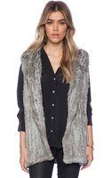 525 America Rabbit Fur Hooded Vest - Lyst