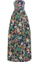 Matthew Williamson Rainbow Morris Floral Print Cotton Blend Gown - Lyst