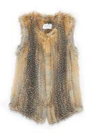 Yves Salomon Knitted Fox Vest - Lyst