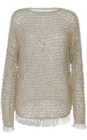 Isabel Marant Raffia Knit Clawson Pullover in Light Beige - Lyst