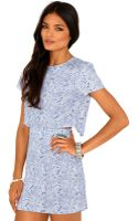 Missguided Annalisa Paisley Cut Out Mini Dress - Lyst
