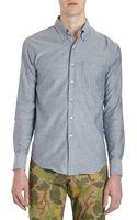 Naked & Famous Regular Shirt Blue Chambray - Lyst