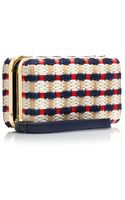Tory Burch Daisy Multi Straw Clutch - Lyst