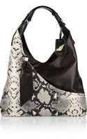 Diane Von Furstenberg Snakeeffect Leather Shoulder Bag - Lyst