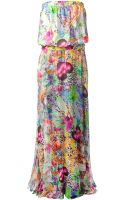 Philipp Plein Floral Print Maxi Dress - Lyst