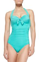 Seafolly Goddess Soft-cup Halter One-piece Swimsuit - Lyst