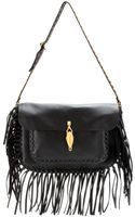 Valentino Scarab Fringed Leather Shoulder Bag - Lyst
