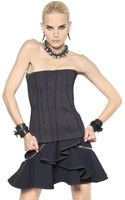 Givenchy Stitched Cotton Drill Bustier Top - Lyst