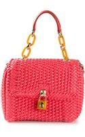 Dolce & Gabbana Woven Tote - Lyst