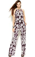 Inc International Concepts Cutout Printed Sleeveless Jumpsuit - Lyst