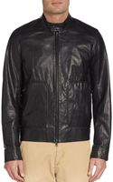 Vince Zip-front Leather Moto Jacket - Lyst