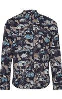 Paul Smith Black Eden Print Cotton Shirt - Lyst