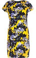 River Island Yellow Floral Print Swing Dress - Lyst