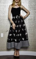 Sachin+babi Thread Embroidered On Organza Ball Skirt - Lyst